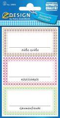 Avery Zweckform Z-Design No. 59893 papír matrica befőttes üvegre - színes keretes mintával - kiszerelés: 2 ív / csomag (Avery Z-Design 59893)