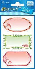 Avery Zweckform Z-Design No. 59897 papír matrica befőttes üvegre - epres, ribizlis, meggyes, díszes kerettel - kiszerelés: 2 ív / csomag (Avery Z-Design 59897)