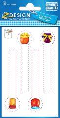 Avery Zweckform Z-Design No. 59899 papír matrica befőttes üvegre - lekváros bödön mintával - kiszerelés: 2 ív / csomag (Avery Z-Design 59899)
