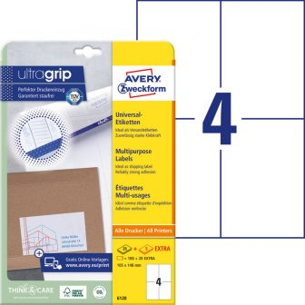 Avery Zweckform 6120 nyomtatható öntapadós etikett címke