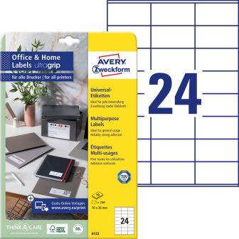 Avery Zweckform 6122 nyomtatható öntapadós etikett címke
