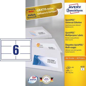 Avery Zweckform 6132 nyomtatható öntapadós etikett címke