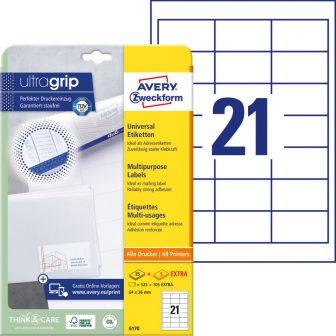 Avery Zweckform 6170 nyomtatható öntapadós etikett címke