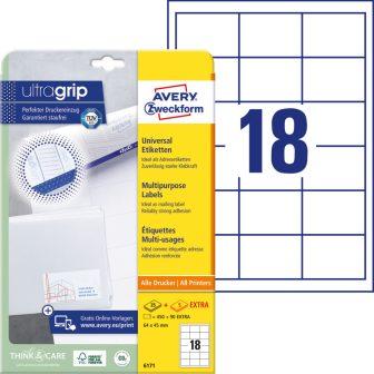 Avery Zweckform 6171 nyomtatható öntapadós etikett címke