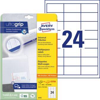 Avery Zweckform 6172 nyomtatható öntapadós etikett címke