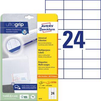 Avery Zweckform 6173 nyomtatható öntapadós etikett címke