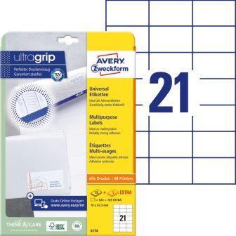 Avery Zweckform 6174 nyomtatható öntapadós etikett címke