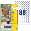 Avery Zweckform 6222-10 kör alakú nyomtatható öntapadós etikett címke