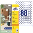 Avery Zweckform 6222REV-10 kör alakú nyomtatható öntapadós etikett címke
