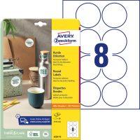 Avery Zweckform 6228-10 kör alakú nyomtatható öntapadós etikett címke
