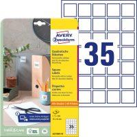 Avery Zweckform 6251REV-10 négyzet alakú nyomtatható öntapadós termék címke