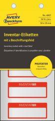 Avery Zweckform 6907 kézzel írható időjárásálló öntapadós leltár címke Inventar Nr. felirattal