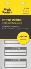 Avery Zweckform 6909 kézzel írható időjárásálló öntapadós leltár címke Inventar Nr. felirattal