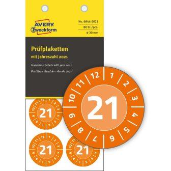 Avery Zweckform 6944-2021 időjárásálló felülvizsgálati címke 2021-es évszámmal