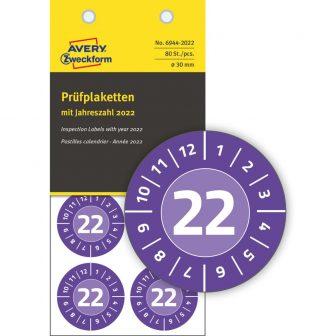 Avery Zweckform 6944-2022 időjárásálló felülvizsgálati címke 2022-es évszámmal