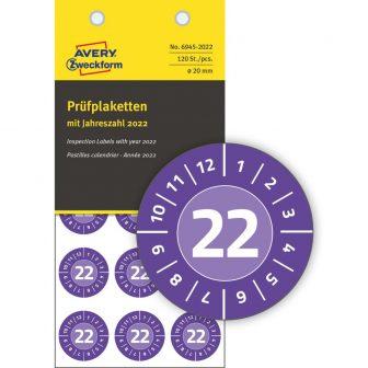 Avery Zweckform 6945-2022 biztonsági hitelesítő címke 2022-es évszámmal