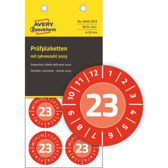 Avery Zweckform 6946-2023 biztonsági hitelesítő címke 2023-as évszámmal