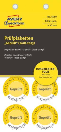Avery Zweckform 6950 biztonsági hitelesítő címke Geprüft felirattal