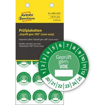 Avery Zweckform 6985-2020 biztonsági hitelesítő címke Geprüft gemäß VDE felirattal