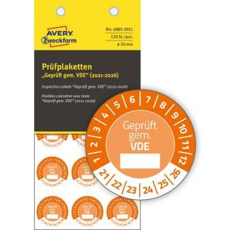 Avery Zweckform 6985-2021 biztonsági hitelesítő címke Geprüft gemäß VDE felirattal