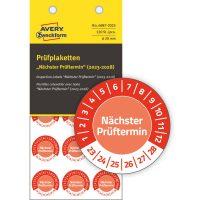Avery Zweckform 6987-2023 időjárásálló felülvizsgálati címke Nächster Prüftermin felirattal