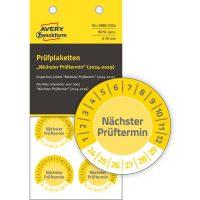 Avery Zweckform 6988-2024 időjárásálló felülvizsgálati címke Nächster Prüftermin felirattal
