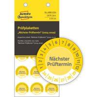 Avery Zweckform 6989-2024 biztonsági hitelesítő címke Nächster Prüftermin felirattal