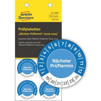 Avery Zweckform 6990 biztonsági hitelesítő címke Nächster Prüftermin felirattal