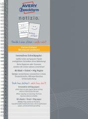 Avery Zweckform Notizio No. 7010 vonalas spirálfüzet A5-ös méretben, világosszürke színű karton borítóval (Avery 7010)