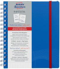 Avery Zweckform Notizio No. 7033 négyzethálós spirálfüzet A5-ös méretben, kék színű műanyag borítóval (Avery 7033)