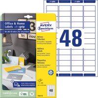 Avery Zweckform 7636-10 nyomtatható öntapadós címzés címke