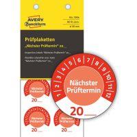 Avery Zweckform 7904 időjárásálló felülvizsgálati címke Nächster Prüftermin felirattal