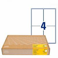 Avery Zweckform No. 8017-300 fehér színű 99,1 x 139 mm méretű, univerzálisan nyomtatható, öntapadós címzés címke, permanens ragasztóval A4-es íven - kiszerelés: 1200 címke / 300 ív