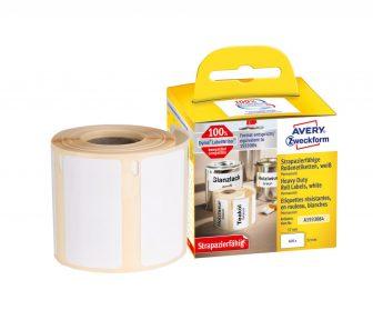 Avery Zweckform No. A1933084 fehér színű, 57 x 32 mm méretű öntapadó tekercses időjárásálló etikett címke, erős, tartós ragasztóval - doboz tartalma: 1 tekercs, 400 darab címke