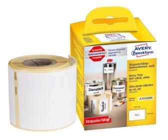 Avery Zweckform A1933086 címkenyomtatóval nyomtatható tekercses öntapadós időjárásálló címke