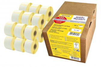 Avery Zweckform AS0722390 címkenyomtatóval nyomtatható tekercses öntapadós címzés címke