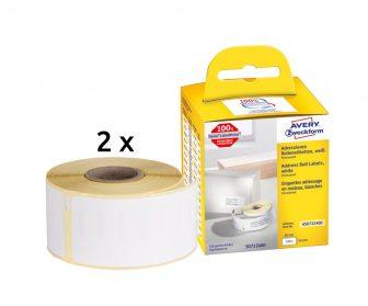 Avery Zweckform No. AS0722400 fehér színű, 89 x 36 mm méretű öntapadó tekercses etikett címke, permanens ragasztóval - doboz tartalma: 2 tekercsen összesen 520 darab címke