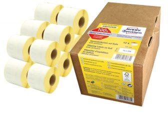 Avery Zweckform AS0722420 címkenyomtatóval nyomtatható tekercses öntapadós címzés címke
