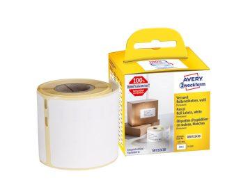Avery Zweckform No. AS0722430 fehér színű, 101 x 54 mm méretű öntapadó tekercses etikett címke, permanens ragasztóval - doboz tartalma: 1 tekercs, 220 darab címke