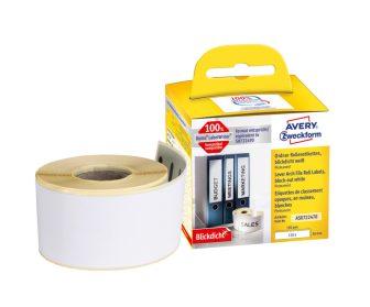 Avery Zweckform No. AS0722470 fehér színű, 190 x 38 mm méretű öntapadó tekercses etikett címke, permanens ragasztóval - doboz tartalma: 1 tekercs, 110 darab címke