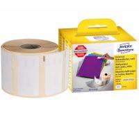 Avery Zweckform No. AS0722540 fehér színű, 57 x 32 mm méretű öntapadó tekercses etikett címke, visszaszedhető ragasztóval - doboz tartalma: 1 tekercs, 1000 darab címke