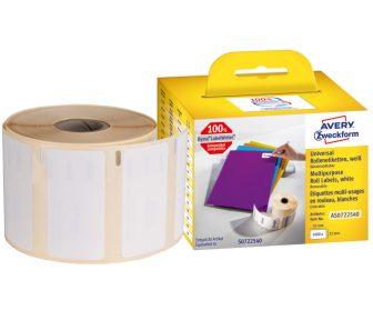 Avery Zweckform AS0722540 címkenyomtatóval nyomtatható tekercses öntapadós etikett címke
