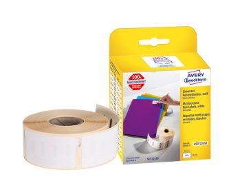Avery Zweckform No. AS0722550 fehér színű, 51 x 19 mm méretű öntapadó tekercses etikett címke, visszaszedhető ragasztóval - doboz tartalma: 1 tekercs, 500 darab címke