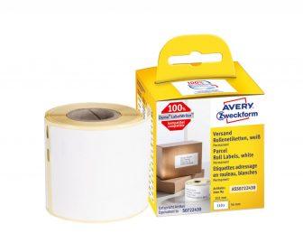 Avery Zweckform No. ASS0722430 fehér színű, 101 x 54 mm méretű öntapadó tekercses etikett címke, permanens ragasztóval - doboz tartalma: 1 tekercs, 110 darab címke