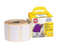 Avery Zweckform No. ASS0722540 fehér színű, 57 x 32 mm méretű öntapadó tekercses etikett címke, visszaszedhető ragasztóval - doboz tartalma: 1 tekercs, 500 darab címke