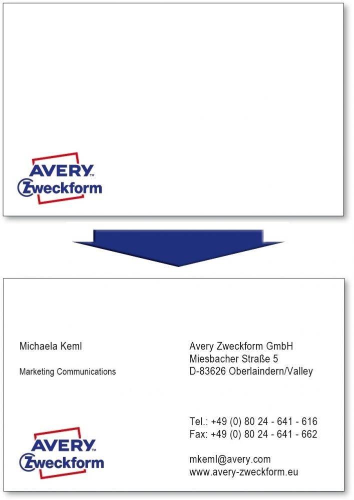 Avery Zweckform No C32011 500 Univerzalis 85 X 54 Mm Meretu 200 G