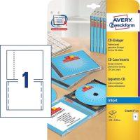 Avery Zweckform C32251-25 nyomtatható CD-tok betétlap