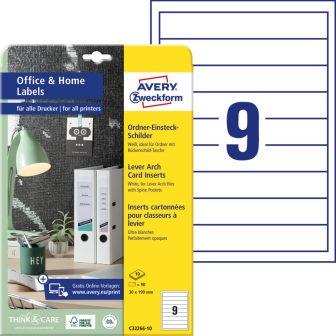 Avery Zweckform C32266-10 nyomtatható iratrendező betétlap