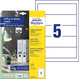 Avery Zweckform C32267-10 nyomtatható iratrendező betétlap