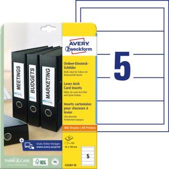 Avery Zweckform C32267-25 nyomtatható iratrendező betétlap